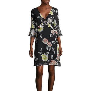 Size 4 French Connection Floral Ruffle Dress